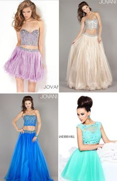 NewYorkDress Blog // Get Sassy in a Two-Piece! // Looking for a fabulous homecoming dress? We say go for a sassy two-piece! You can click through for more options! // #Jovani #SherriHill