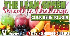Join The Lean Green Smoothie Challenge and drop a dress size on this easy 7 day detox.