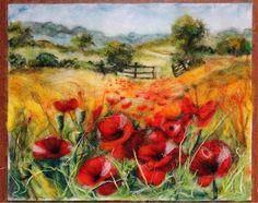 Poppies in the field by UkrainianHouseofArt on Etsy