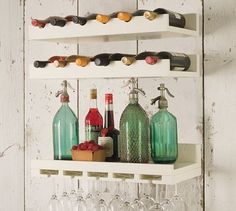 We are loving our new wine storage racks from Pottery Barn. Hanging our wine glasses has saved so much room in our cupboards!