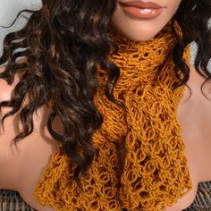 Shrug Scarf - Golden Yellow- Marino Wool