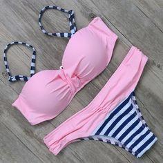 2016 Swimwear Swimsuit Women Bikini Push Up Bikini Set Sexy Bandage Brazilian Bikinis Biquini Bathing Suit maillot de bain Hot Bikini Push Up, Brasilianischer Bikini, Cute Bikinis, Cute Swimsuits, Women Swimsuits, Bikinis Lindos, Bandage, Cute Bathing Suits, Trendy Swimwear
