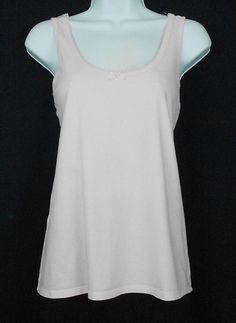 328368a3878d Laura Scott Womens Sleepshirt Pink Size M Cotton Solid Scoop Neck Sleeveless  #LauraScott #womenssleepwear