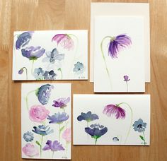 How to Create Watercolor Flowers | The Postmans Knock