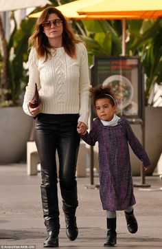 Mother-daughter time: Ellen Pompeo rocked casual winter style on Sunday as she ran errands with her five-year-old daughter Stella Luna