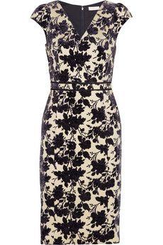 Tory Burch Dayton stretch-cotton flocked velvet dress  | NET-A-PORTER