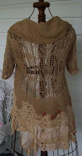 ~~Tea's Hope Chest~~: Tea Stained Vintage Rags Cap Sweater~~