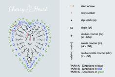 A free pattern for Bohemian style hearts: Boho Hearts by Cherry Heart