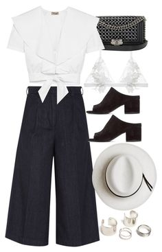 """Untitled #9586"" by nikka-phillips ❤ liked on Polyvore featuring For Love & Lemons, Chanel, Iris & Ink, 3.1 Phillip Lim, Temperley London and Calypso Private Label"