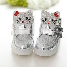 2a691596d2b19 Hot Girls shoes baby Fashion Hook Loop led shoes kids light up sneakers  Girls hello kitty children shoes with light in stock-in Sneakers from  Mother   Kids ...