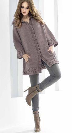 68 Super Ideas For Crochet Cardigan Outfit Blouses Knit Fashion, Fashion Sewing, Knitting Designs, Knitting Patterns Free, Sweater Patterns, Costura Fashion, Quick Knits, Crochet Woman, Jacket Pattern