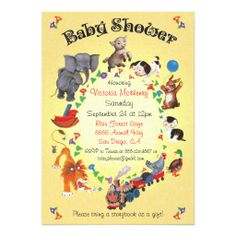 345 best book themed baby shower invitations images on pinterest in the back of a golden book how adorable bring a book baby shower baby animals invitations filmwisefo