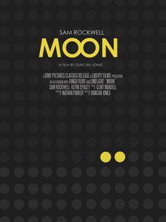 Moon (2009) ~ Minimal Movie Poster by Vincent Gabriele #amusementphile