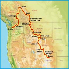 Great motorcycle ride linking Denver to Seattle through the Tetons, Yellowstone, Glacier and beyond
