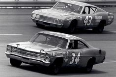 motorsport Ford Galaxie Torino Talladega NASCAR stock cars muscle cars #MuscleCars #LoveOnlineToday.com