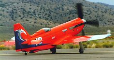 Tsunami racer built to compete in the Unlimited Class at the Reno Air Races it was capable of over 500 mph. Reno Air Races, Event Logistics, Propeller Plane, 67 Mustang, Aircraft Painting, Mustang Convertible, Aircraft Pictures, Air Show, Tsunami