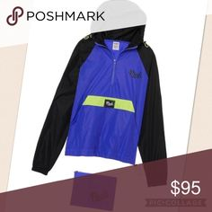 """🍍PACKABLE Q ZIP ANORAK BNIP (brand new in package) Size XS/S OVERSIZED w/Kangaroo pockets This color is SOLD OUT ⛔️I will ignore any """"lowest?"""" comments ⛔️Offers through """"OFFER"""" button only ⛔️NO HOLDS ⛔️NO TRADE ⛔️SMART REMARKS WILL GET YOURSELF BLOCKED IN MY CLOSET ✅$65 VINTED (I paid full price $69.95 plus tax) PINK Victoria's Secret Jackets & Coats"""