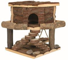 Trixie Natural Living Ida House Small Hamster Mice Gerbil Playhouse for sale online Habitat Du Hamster, Hamster Life, Hamster Cages, Guinea Pig House, Guinea Pigs, Gerbil Toys, Small Hamster, Pet Rodents, Degu