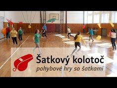 Šatkový kolotoč - Pohybové hry so šatkami 03 - YouTube Group Games For Kids, Pe Games, Summer Games, Physique, Basketball Court, Teaching, Videos, Sports, Camping