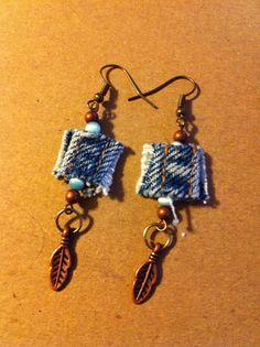 blue jeans earrings