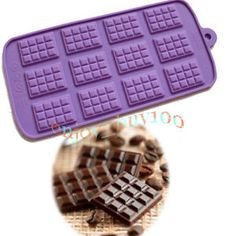 Perfect for making homemade GAPS legal chocolates! Mini Chocolate Bar Wafer Pattern CANDY MOLD 12-Cavity SILICONE
