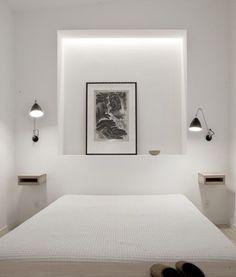 Cabeceros de obra en el dormitorio   Estilo Escandinavo