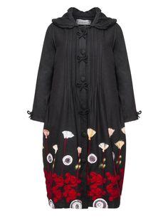 Lissmore Embroidered wool-blend coat in Black / Versicolour