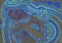 Psychedelic Nude Art Mature by PearlWhitecrow on Etsy, $20.00