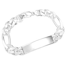Order a sterling silver bracelet to add a stylish sparkle to any outfit. Personalized sterling silver bracelets make for meaningful and unique keepsakes. Gold And Silver Bracelets, Cheap Silver Rings, Silver Rings With Stones, Mens Silver Rings, Silver Drop Earrings, Sterling Silver Bracelets, Silver Jewelry, 925 Silver, Mens Engraved Bracelets