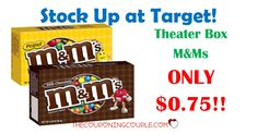 Stock up! Grab Theater Box M&Ms at Target! Pay only $0.75! Great for snacks, movie nights!  Click the link below to get all of the details ► http://www.thecouponingcouple.com/theater-box-mms-only-0-75-at-target/ #Coupons #Couponing #CouponCommunity  Visit us at http://www.thecouponingcouple.com for more great posts!