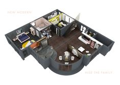 New Modern Kollektion - Nise The Family Stone Texture, Poker Table, Rooms, Bright, Display, 3d, Interior, Modern, Furniture