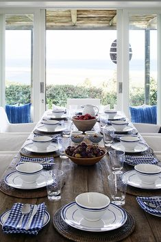 High on the mountainside overlooking Plettenberg Bay lagoon, Indigo House commands a spectacular view and boasts signature indigo, white and wood interiors. Coastal Homes, Coastal Living, Resort Interior, Beautiful Beach Houses, Outdoor Living Furniture, Doors And Floors, Wood Interiors, House Windows, Next At Home