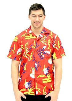 4a983fb9 Scarface Tony Montana Hawaiian Adult Costume Button Up Shirt (Adult  Small/Medium): This is the perfect shirt for a Scarface costume!