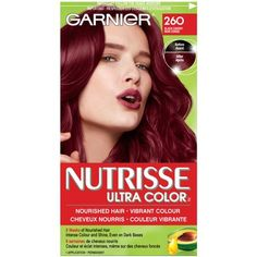 Shop for Nutrisse Ultra Color by Garnier Plum Red Hair, Shades Of Red Hair, Dyed Red Hair, Hair Dye, Light Red Hair Color, Bright Hair, Dark Hair Bobs, Medium Hair Styles, Natural Hair Styles