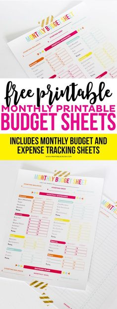 Free Expense Tracker For Your Budget Free printable, Budgeting and - Free Budgeting Spreadsheet