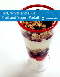 Whip up this #yogurt and #berry parfait for your holiday shindig this year! #redwhiteandblue #julyforth #recipe