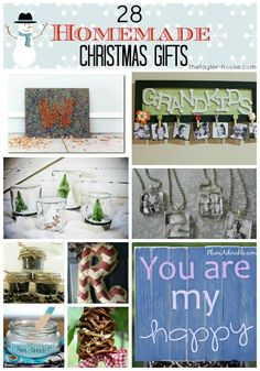 28  Homemade Gifts for friends and family!  #homemadegifts #Holidays #Christmas http://www.thetaylor-house.com/28-homemade-christmas-gifts-friends-family/