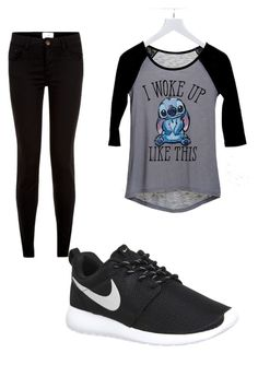 """""""casual"""" by tia12502 on Polyvore featuring dELiA*s, NIKE, women's clothing, women, female, woman, misses and juniors"""