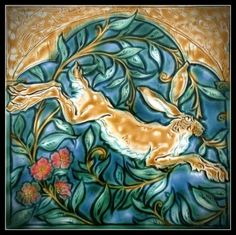 Leaping Medieval Hare by Mary Philpott.