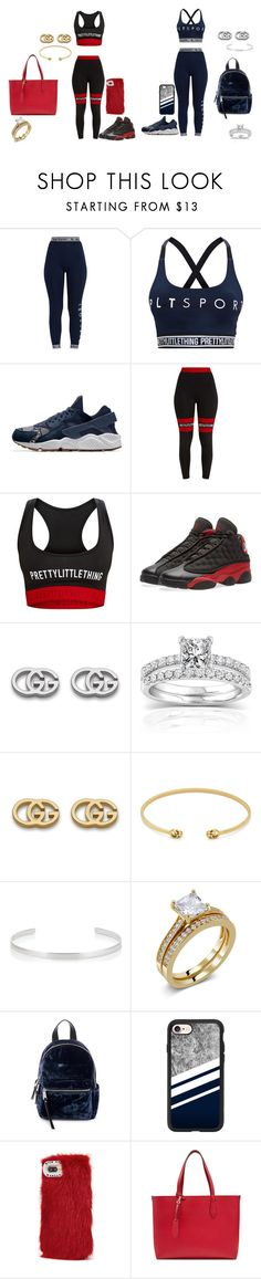 """""""couple/best friend/mall"""" by karalynn980 on Polyvore featuring Pretty Little Thing, NIKE, Gucci, Annello, Jennifer Fisher, French Connection, Casetify, Wild & Woolly and Burberry"""