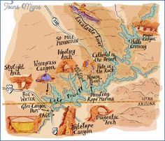 GLEN CANYON NATIONAL RECREATION AREA MAP UTAH Established in 1972, this National Recreation Area was created by damming up the Colorado River in Glen Canyon to create 186-mile-long Lake Powell. Although the headquarters are located in Arizona, almost all of the area is in southern Utah. This is arid canyon country, with high buttes and …