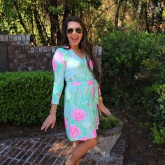 Lilly Pulitzer Meridan Printed Wrap Dress - Going Stag  Instagram: @lillyinthesouth