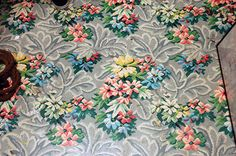 Beautiful Vintage Linoleum Pattern by pjchmiel, via Flickr  Oh WHY don't they still make this??