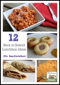 12 Non-Sandwich Ideas for Lunches