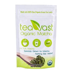 Teavast Matcha Green Tea Powder - USDA Organic & Vegan (Culinary Grade) Made for Iced Latte, Smoothie, Iced Tea, Ice Cream, Baking, Cold Brew and Dessert. Sugar Free (4oz (113g) * Learn more by visiting the image link. Organic Matcha, Organic Green Tea, Iced Tea Maker, Matcha Smoothie, Iced Latte, Matcha Green Tea Powder, Cold Brew, Japanese Food, Turmeric