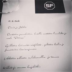 The #menu #topchef #järvenpää #illallinen #michelinstar @jounitoivanen