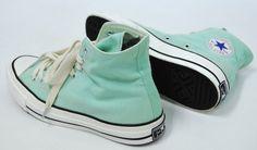 Mint green/ aqua high top Converse