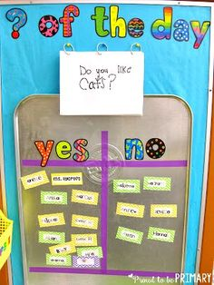 Need a fun classroom management activity to get kids focused and ready for the day? Teachers can set-up a DIY Question of the Day board with a drip pan and a few simple materials. Kids will love reading the different questions posted each school day! #questionoftheday #classroommanagement #readingactivitiesforkids
