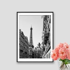 Eiffel tower Black and White Paris decor Instant by AskPrintables