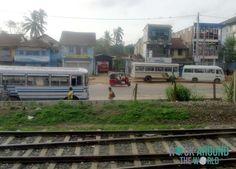 Aussicht aus dem Zug von Colombo nach Kandy, Sri Lanka
